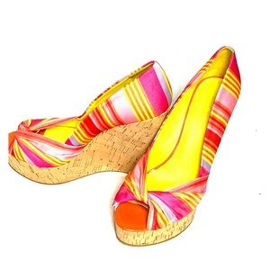 Colorful wedges from Nine West
